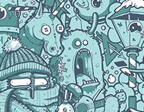 Art of Sool for Dunp Magazine - Winter Time