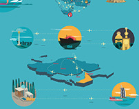Illustration for toptours motion graphic