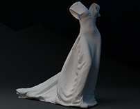 WHITE NIGHT DRESS · 3D VISUAL PROJECT