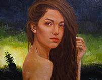 Портрет акрилом на холсте