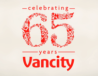 Vancity Celebrating 65 years Animated Logo
