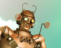 Steampunk 3D Illustration