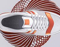 Sneakers in motion