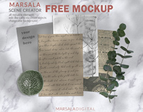 MARSALA SCENE CREATOR - FREE MOCKUP