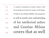 MIŁOSZ / typeface