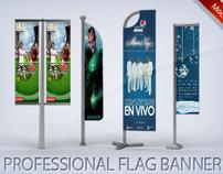 Professional Flag Banner Mock-up