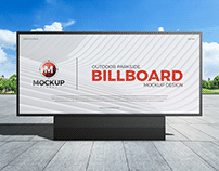 Free Outdoor Parkside Advertisement Billboard Mockup