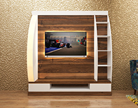 #TvUnit #walnut veneer #mismatch #interior design