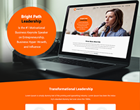 Web Page Design For Motivational Speaker | UI Design