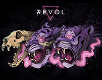 Illustration: Tiger (Revol Skateboards)