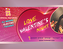 Valentine Party Facebook Cover Design