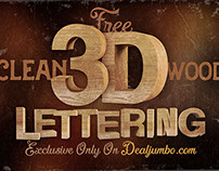 Free 3D Wooden Lettering Pack