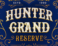 Hunter Grand reserve label