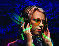 neon style photo processing