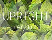 UPRIGHT typeface design announcement