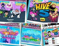 Online Game Illos and Animation for Cartoon Network