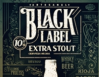 Black Label Beer [EXTRA STOUT] Cerro Cruz, La Rioja
