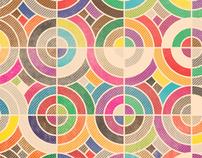 Geometric Retro Grunge Prints - 2011
