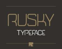 RUSKY Typeface