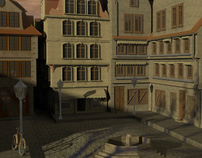 Altstadt am Brunnenplatz 3D Project with Maya