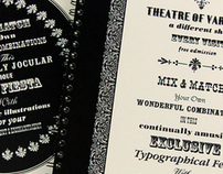 Theatre of Varieties Typographic Book