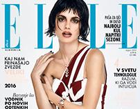 Cover story for ELLE Slovenija