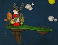 Low Poly Gorillaz Island