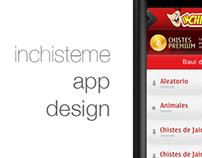 Inchisteme app design