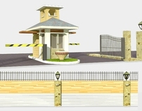 Proposed Subdivision Fence and Guardhouse