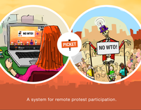 PICKET! remote protest system