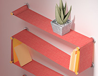 Flexile Customizable Textile Shelf