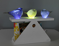 """Table lamp with shelf """"PTASHKY"""""""