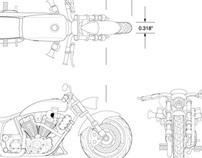 Spin Master Toys Custom Harley-Davidson Motorcycles