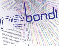 Rebondi font poster