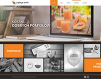 Papaya print - projekt WWW