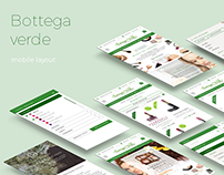 Bottega Verde Ecommerce redesign 2016