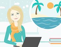Travel App Website Illustrations