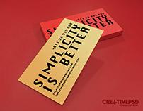Beautiful Minimalist Business Cards Template