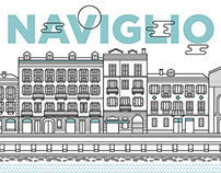 Naviglio - Wall stickers illustrations