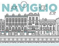 Naviglio - Wall stickers illustrations