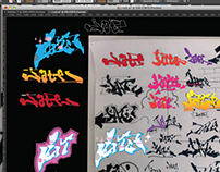 30 vector Graffiti pieces by BRUSE 3000