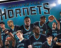 2016 Charlotte Hornets Team Poster