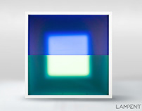 Geometric abstract light art / wall lamp