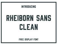 Rheiborn Sans Clean - FREE Typeface