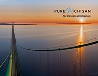Michigan's Mackinac Bridge Then and Now Series - 2010