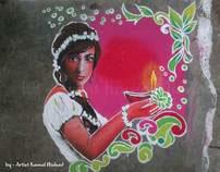 Rangoli 2011 (Hand made) - for Diwali festival