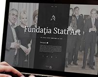 Fundaţia Stati Art - Website & Logo Design