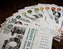 Letterpess calendar 2012