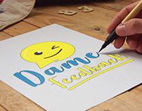 Logo Dame Feedback | Por Sebastian Marín®