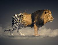 Photoshop Fusor Leon-tigre